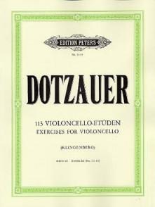 DOTZAUER 113 ETUDES VOL 3 VIOLONCELLE