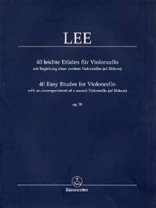 LEE S. 40 ETUDES OP 70 VIOLONCELLE