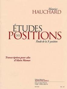HAUCHARD M. ETUDES DES POSITIONS ALTO