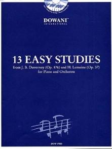 13 EASY STUDIES PIANO ET ORCHESTRE