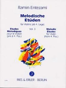 ENTEZAMI R. MELODISCHEN ETUDEN VOL 3 VIOLON