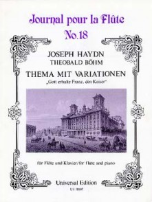HAYDN J. THEME ET VARIATIONS FROM OP 76:3 FLUTE