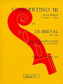 BREVAL J.B. CONCERTINO N°3 VIOLONCELLE