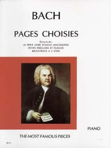 BACH J.S. PAGES CHOISIES PIANO