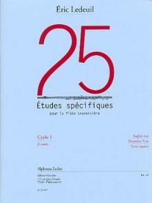 LEDEUIL E. 25 ETUDES SPECIFIQUES FLUTE