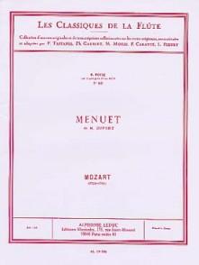 MOZART W.A. MENUET DE DUPORT FLUTE