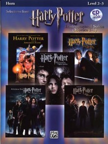 POTTER HARRY SELECTIONS INSTRUMENTAL SOLOS MOVIES 1-5 HORN