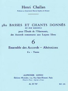 CHALLAN H. 380 BASSES ET CHANTS DONNES VOL 06A