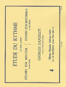 DANDELOT G. ETUDE DU RYTHME VOL 4