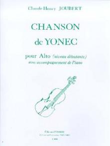 JOUBERT C.H. CHANSON DE YONEC ALTO