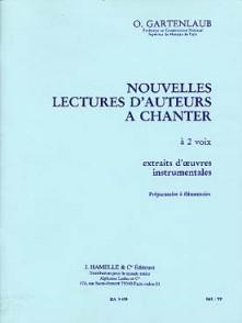 GARTENLAUB O. NOUVELLES LECTURES D'AUTEURS