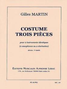 MARTIN G. COSTUME TROIS PIECES 2 SAXOS OU 2 CLARINETTES