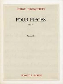 PROKOFIEV S. 4 PIECES OP 32 PIANO