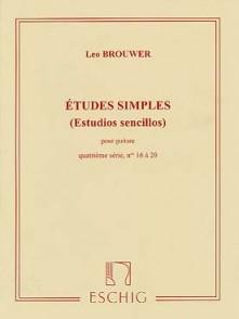 BROUWER L. ETUDES SIMPLES 4ME SERIE GUITARE