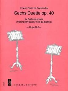 BODIN DE BOISMORTIER J. SECHS DUETTE OP 40 BASSON