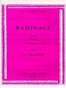CECCONI M. BADINAGE BASSON