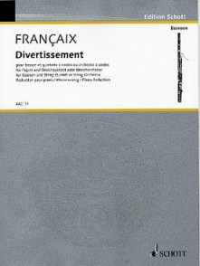FRANCAIX J. DIVERTISSEMENT BASSON