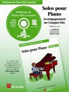 HAL LEONARD LES SOLOS POUR PIANO VOL 4