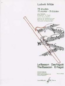 MILDE L. 75 ETUDES OP 26 VOL 2 BASSON
