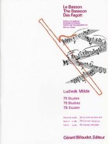MILDE L. 75 ETUDES OP 26 VOL 3 BASSON