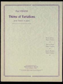 PIERNE P. THEME ET VARIATIONS BASSON