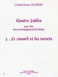 JOUBERT C.H. FABLE N°3 LE CANARD ET LES NAVETS ALTO