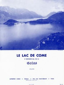 GALOS LE LAC DE COME PIANO