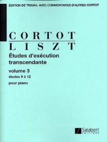 LISZT F. ETUDES D'EXECUTION TRANSCENDANTE VOL 3 PIANO