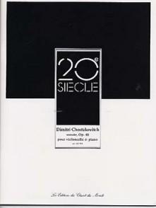 CHOSTAKOVITCH D. SONATE OP 40 VIOLONCELLE