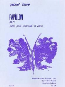 FAURE G. PAPILLON OP 77 VIOLONCELLE PIANO