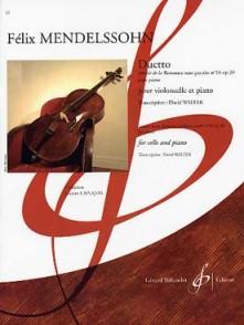 MENDELSSOHN F. DUETTO VIOLONCELLE