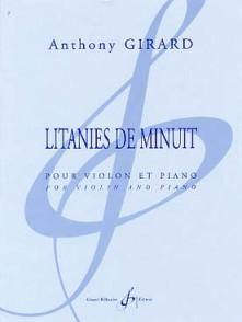 GIRARD A. LITANIES DE MINUIT VIOLON