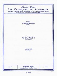 BACH J.S. 4ME SONATE SAXO