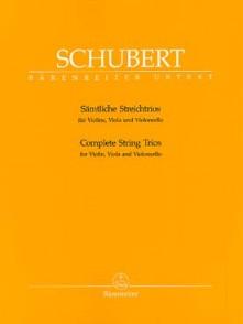 SCHUBERT F. TRIOS CORDES D 471 - D 581