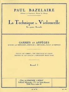 BAZELAIRE P. LA TECHNIQUE DU VIOLONCELLE VOL 1