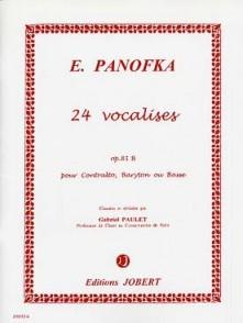 PANOFKA H. 24 VOCALISES OP 81 B VOIX