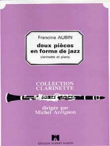 AUBIN F. DEUX PIECES EN FORME DE JAZZ CLARINETTE