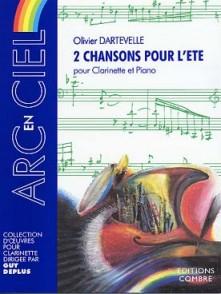 DARTEVELLE O. 2 CHANSONS POUR L'ETE CLARINETTE