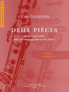 GRANDVAL (DE) CL. DEUX PIECES CLARINETTE