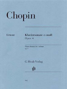 CHOPIN F. SONATE OPUS 4 PIANO