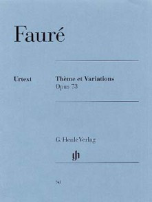 FAURE G. THEME ET VARIATIONS OP 73 PIANO