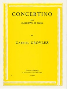GROVLEZ G. CONCERTINO CLARINETTE