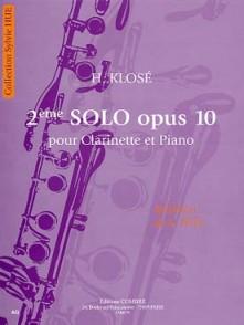 KLOSE H. 2ME SOLO OP 10 CLARINETTE