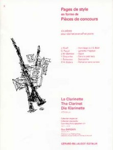 PAGES DE STYLE CLARINETTE SIB
