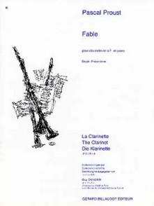 PROUST P. FABLE CLARINETTE SIB