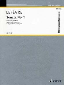 LEFEVRE X. 1RE SONATE CLARINETTE