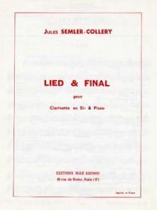 SEMLER-COLLERY J. LIED & FINAL CLARINETTE