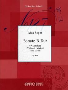 REGER M. SONATE B DUR OP 107 CLARINETTE