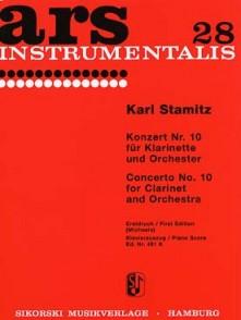 STAMITZ K. CONCERTO N°10 CLARINETTE