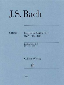 BACH SUITES ANGLAISES 1 - 3 PIANO